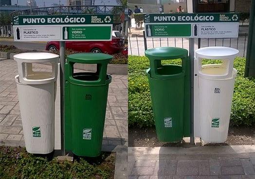 Papeleras Atrium DISA  Puntos Ecológicos – Municipalidad de San Isidro Papeleras Atrium San Isidro